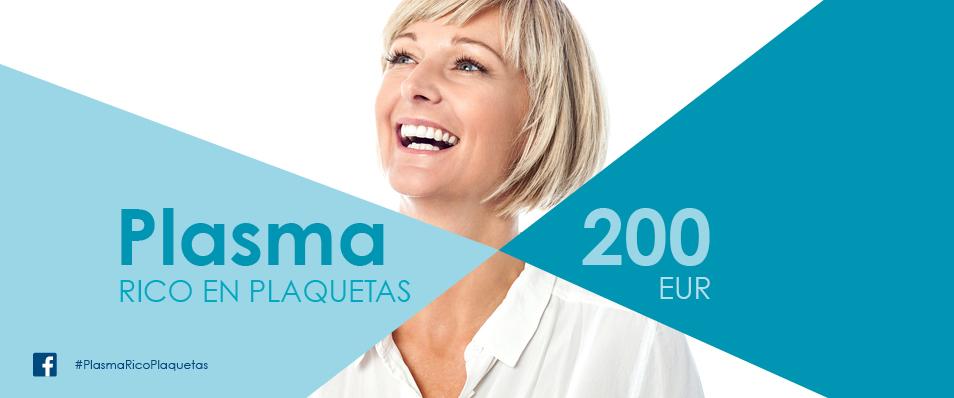Plasma rico en plaquetas a 200€